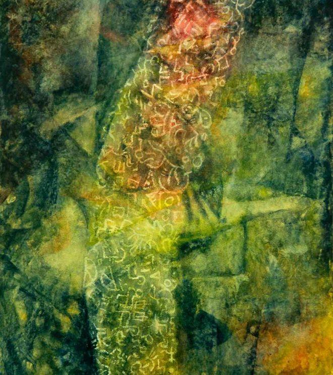 64 x 50 cm, Acryl und Ölkreide auf Papier