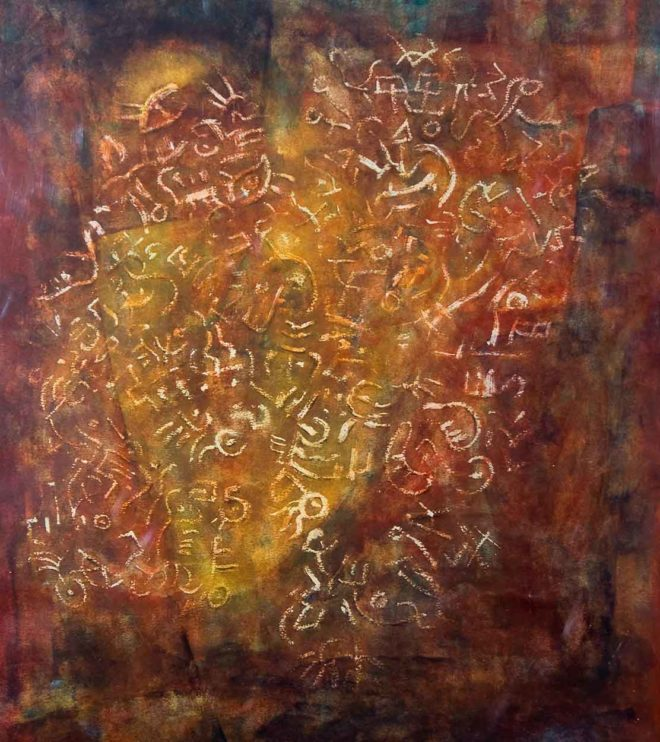 63 x 93 cm, Acryl und Ölpastell auf Papier