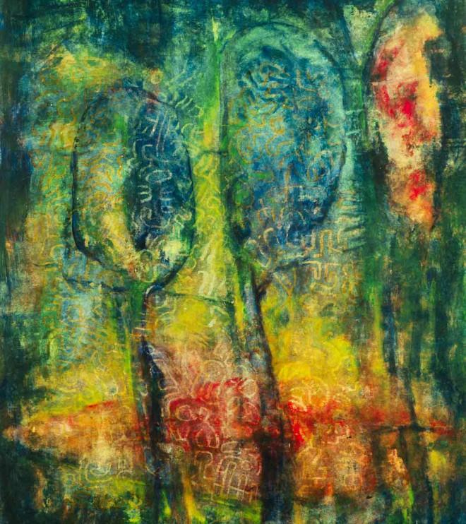 48 x 64 cm, Acryl und Kreide auf Papier