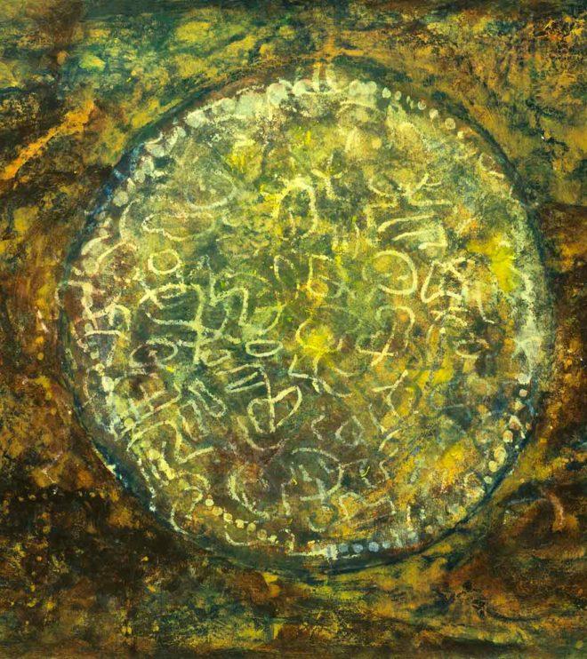 64 x 50 cm, Acryl und Kreide auf Papier