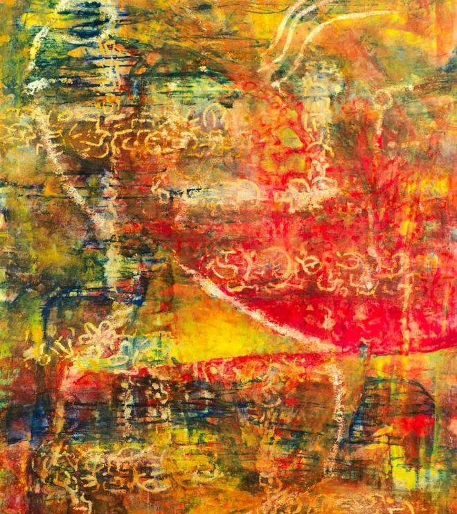 70 x 100 cm, Acryl und Kreide auf Papier