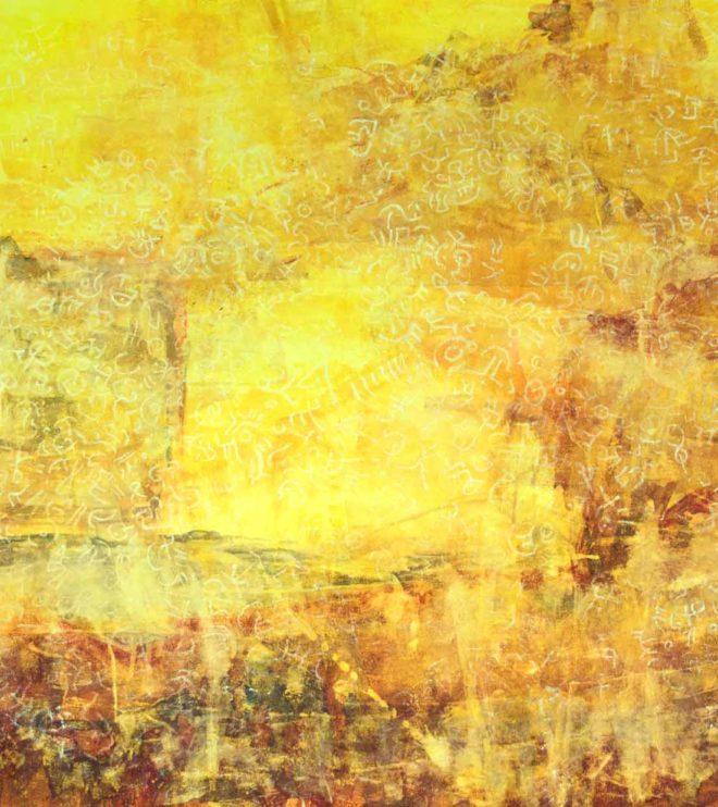150 x 120 cm, Acryl und Kreide auf Papier