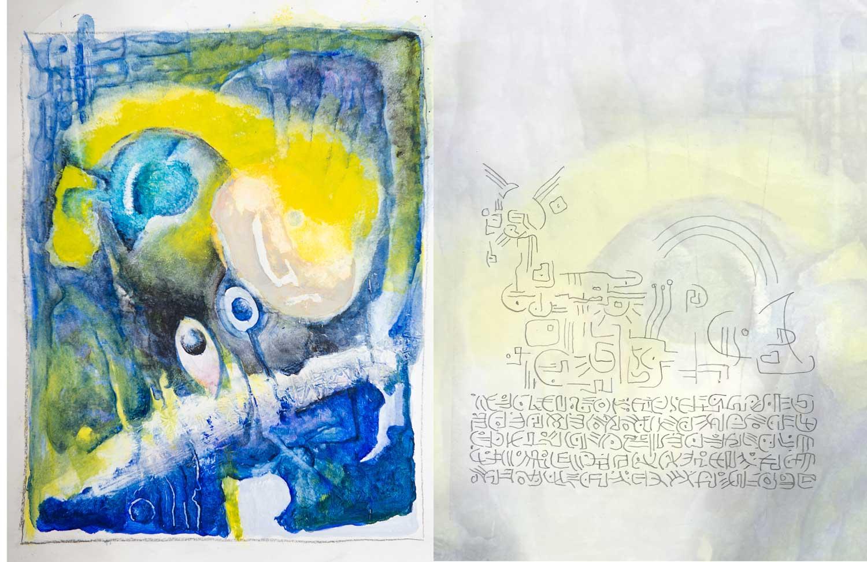 """Doppelseite 14/15 aus dem Buch """"Orm-Art – Vorlagen zur Intuition"""""""